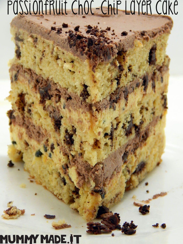 Paleo Passionfruit Choc Chip Layer Cake (Gluten, Dairy & Refined Sugar Free)