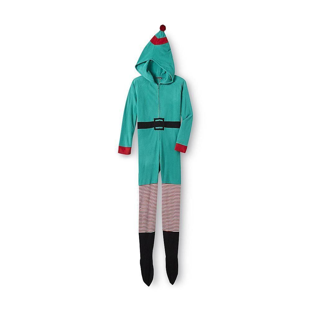 Holiday Elf Women's One-Piece Footie Pajamas