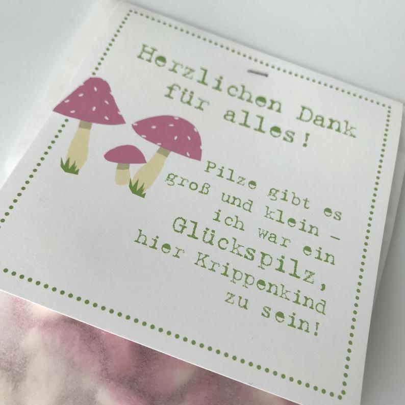 A special KRIPPENKIND thank you - GLÜCKSPILZ - Farewell gift