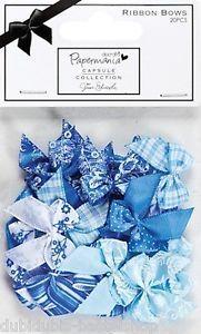"""Docrafts: -Papermania- 20x Schleifen """"Burleigh Blue"""" -21   eBay"""
