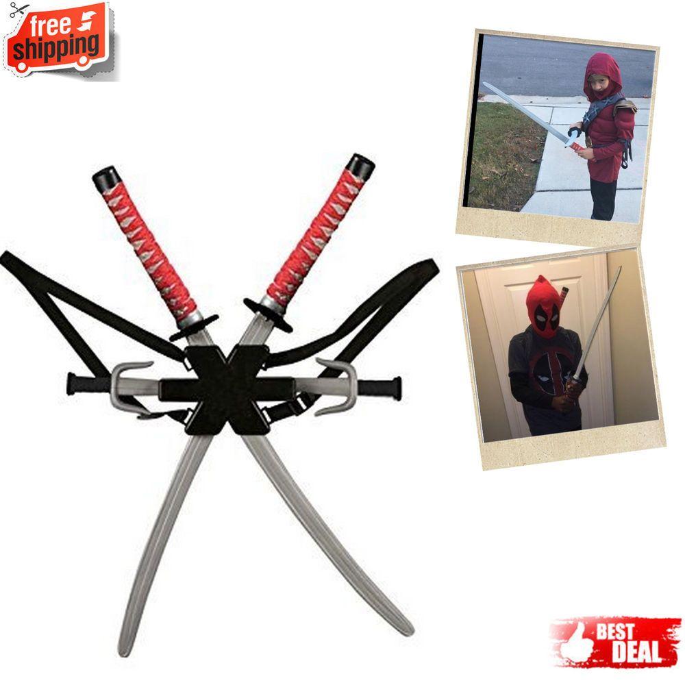 Kids ninja sword toy set cosplay costume dragon plastic
