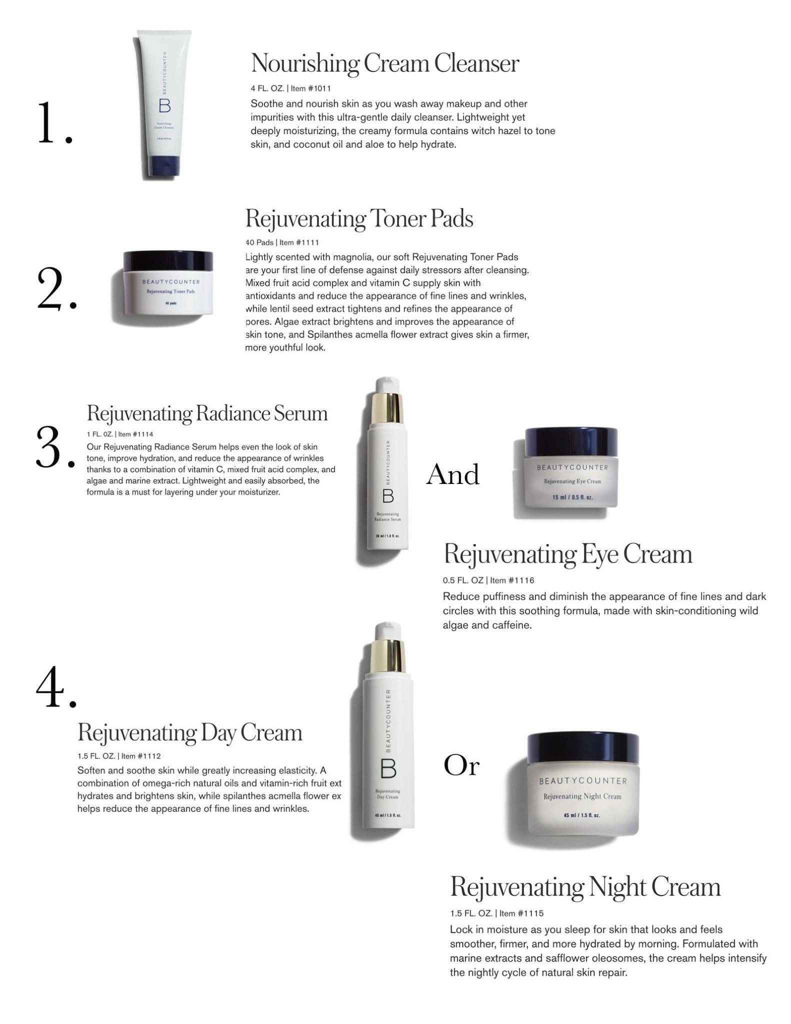 A Great Skincare Routine Www Beautycounter Com Jenniferjohnson2 Anti Aging Skin Products Skin Care Regimen Anti Aging Wrinkle Creams