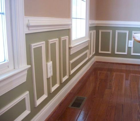 Paint ideas with chair rail after dining room ideas for for Dining room trim ideas