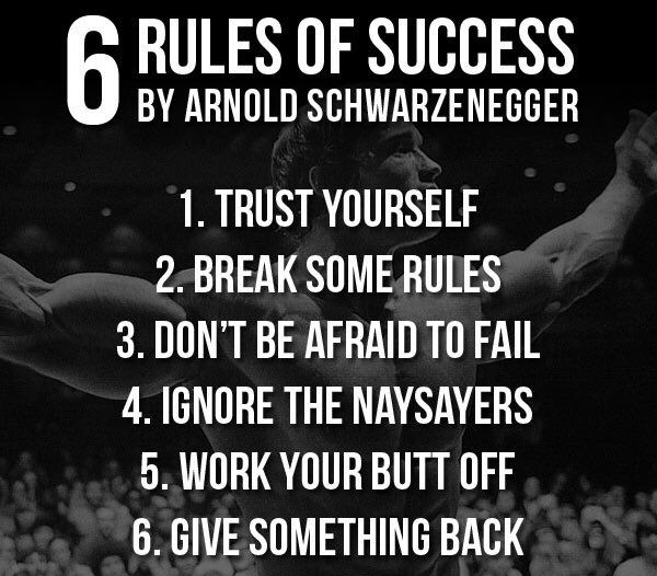 Arnold Schwarzenegger Advice For Achieving Your Goals Sayings
