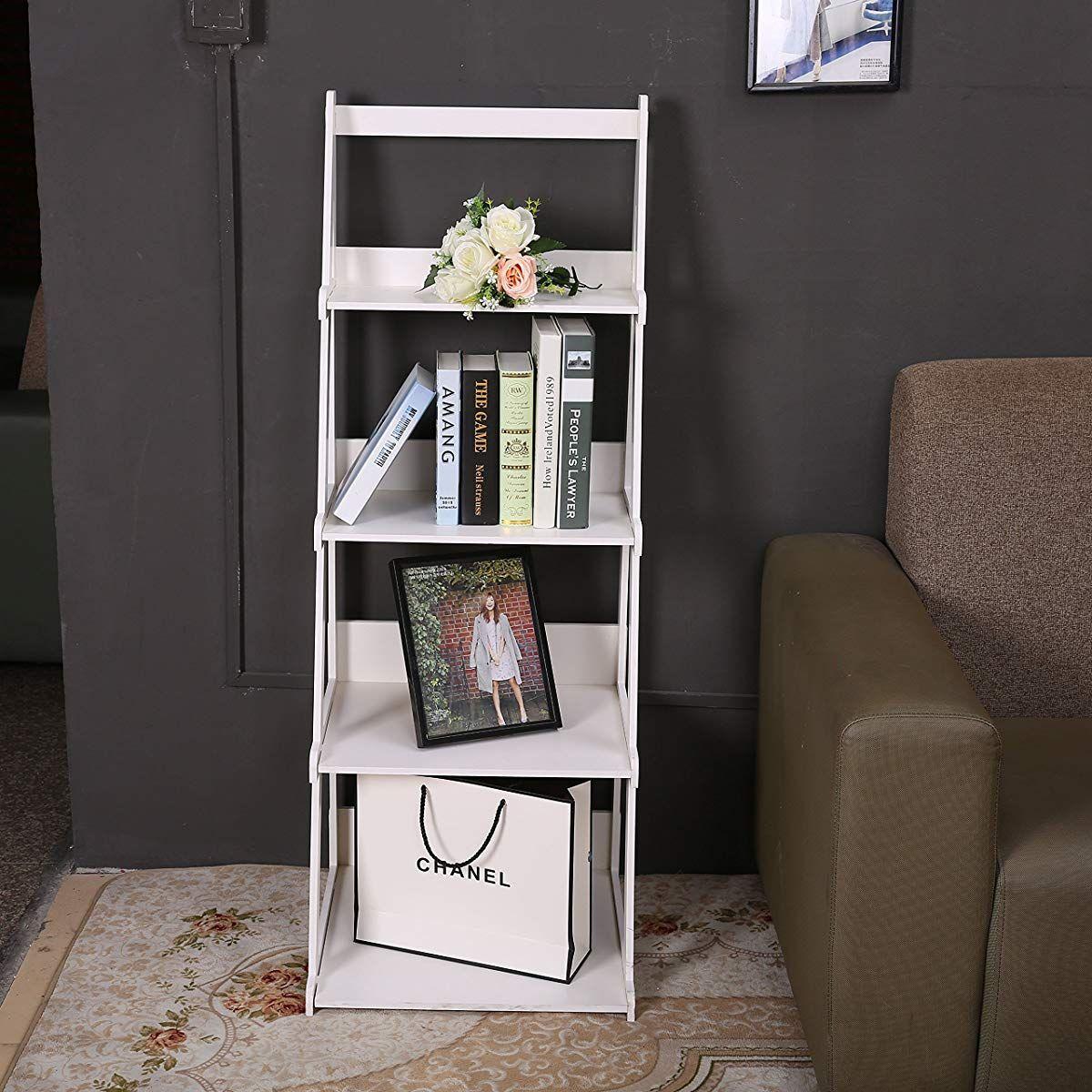Tier ladder style shelf aframe shelf plant stand white white