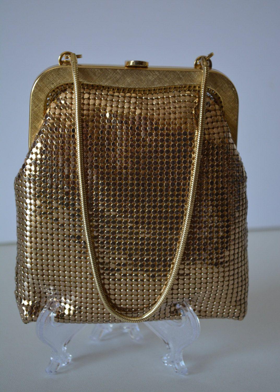 Gold Glomesh Handbag Wedding Or Evening Bag Vintage Australian Bridal Purse Vintage Evening Bags Handbag Evening Bags