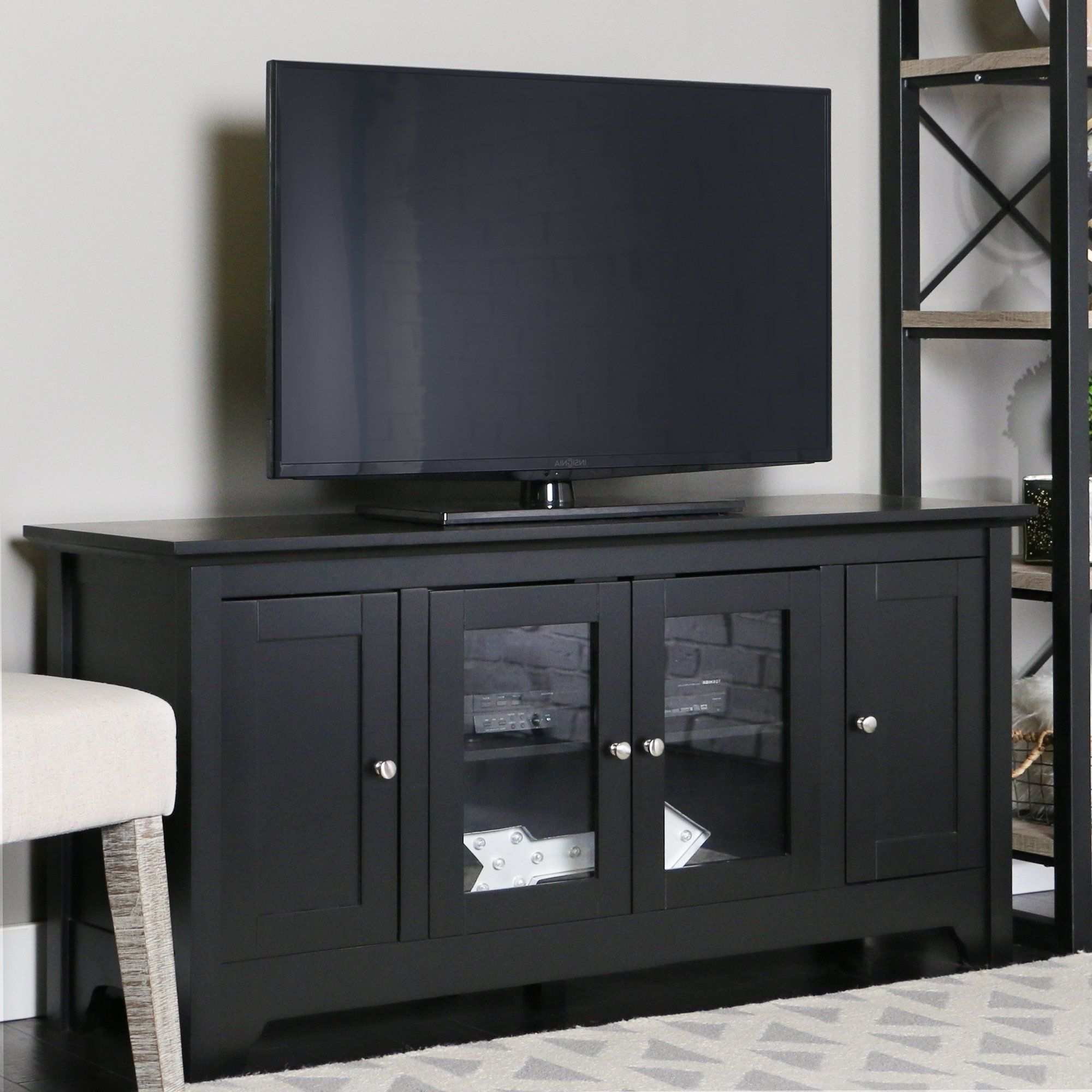 53 tv stand console black 53 x 16 x 25h walker edison in 2018 rh pinterest com
