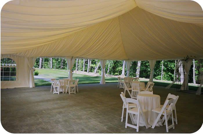 40 X 50 Custom Champagne Tent Liner Tent Canopy Rentals Dance Floor Rental