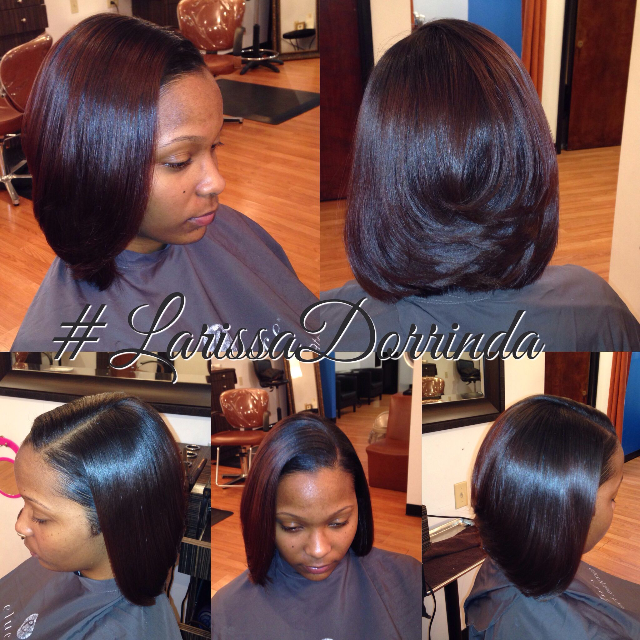 Larissa Dorrinda Bob Silk Press Hair styles