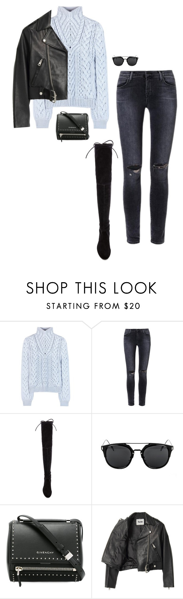 """""""Untitled #494"""" by bareluxe ❤ liked on Polyvore featuring Altuzarra, J Brand, Stuart Weitzman, Givenchy and Acne Studios"""