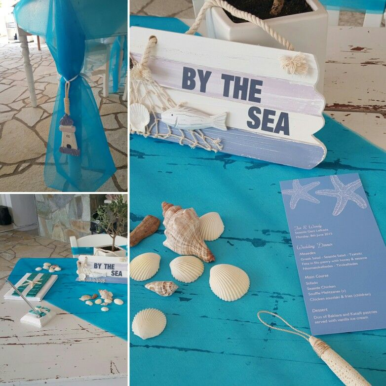 bridal shower keepsake book%0A                           guest book wedding wishes table beach theme from wedding in  Lefkas Greece