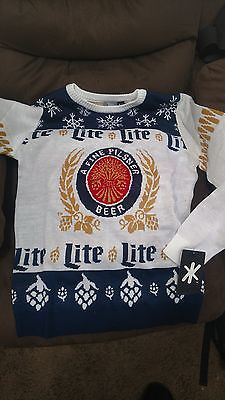 MILLER LITE UGLY CHRISTMAS SWEATER L New in Package https://t.co/dQqBZRyzQP https://t.co/oulfsKUApM