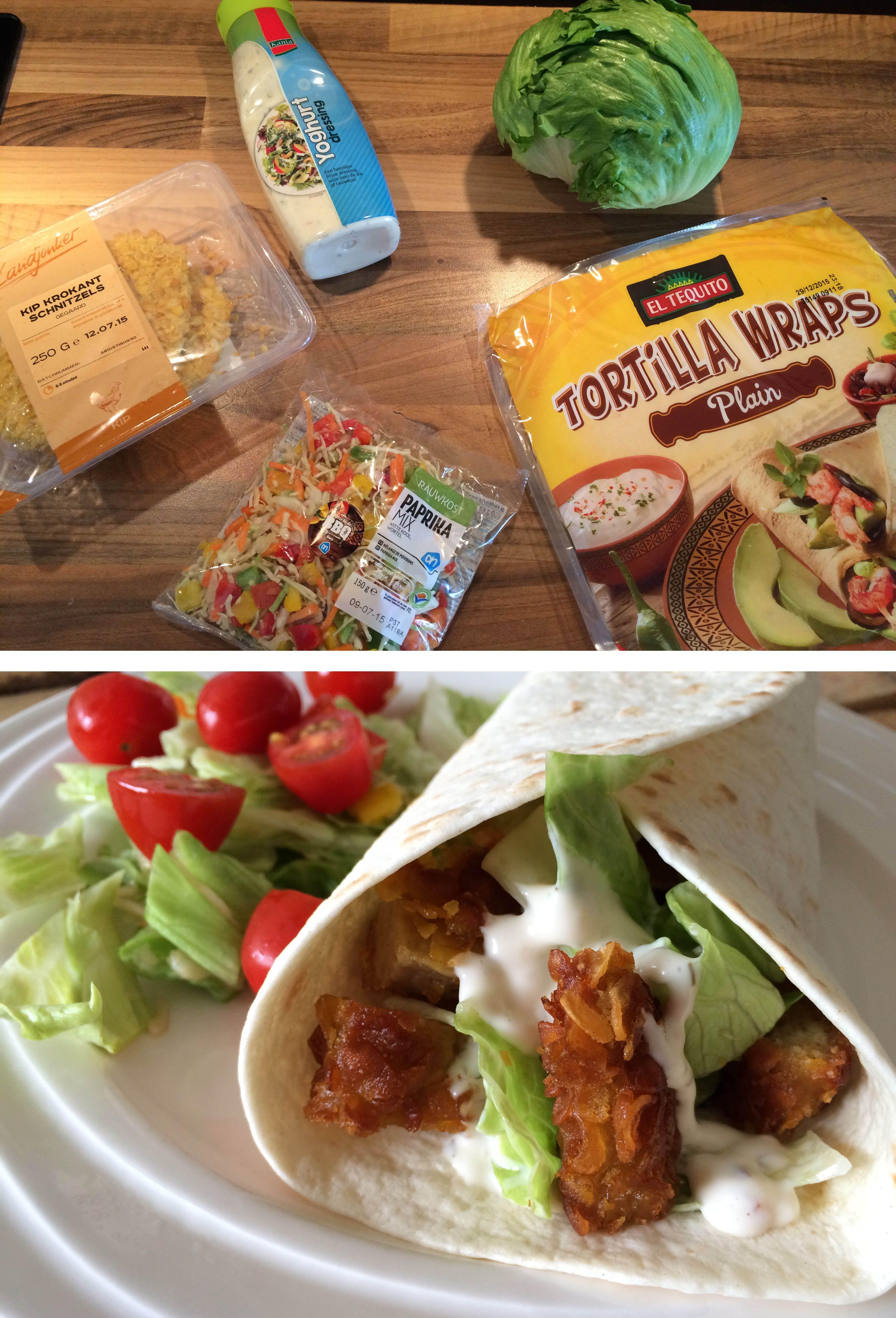 Wonderbaar Wraps met krokante kip | Recept - Lekker eten, Krokante kip en IS-96