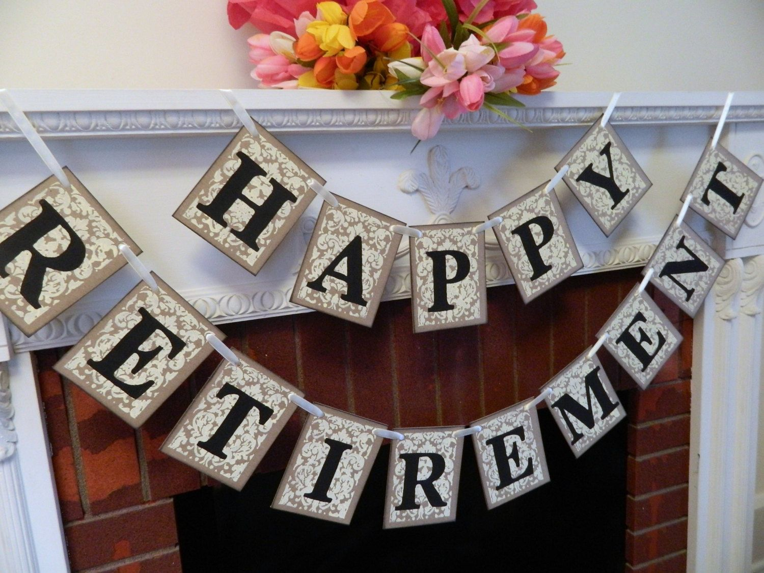 retirement letter to boss%0A Happy Retirement Banner   Retirement Party Signs  Retirement Party  Decorations   Rustic Retirement Decorations