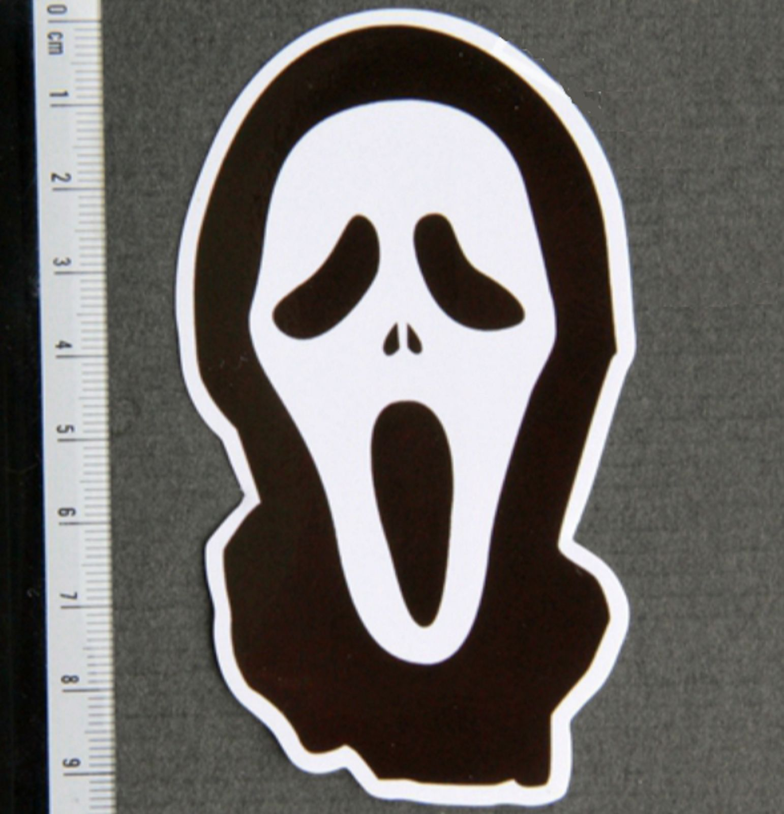 Scary Movie Mask Ghost Face Sticker Decal Skateboard Guitar Vinyl Car Laptop Face Stickers Scary Movie Mask Ghost Faces [ 1600 x 1542 Pixel ]