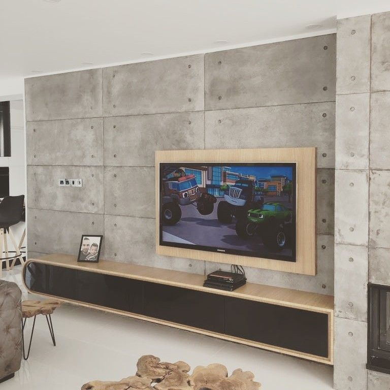 Interior Concrete Wall Design With Cretox Concrete Panel 60 X 120 Cm Panels In 7 Mm Thickness With Vintage Dorian Colour Enjoy The Lightweight Concrete Panel