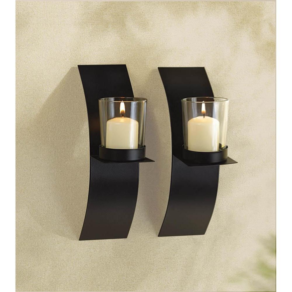 Modart candle sconce duo matte black metal walls and products