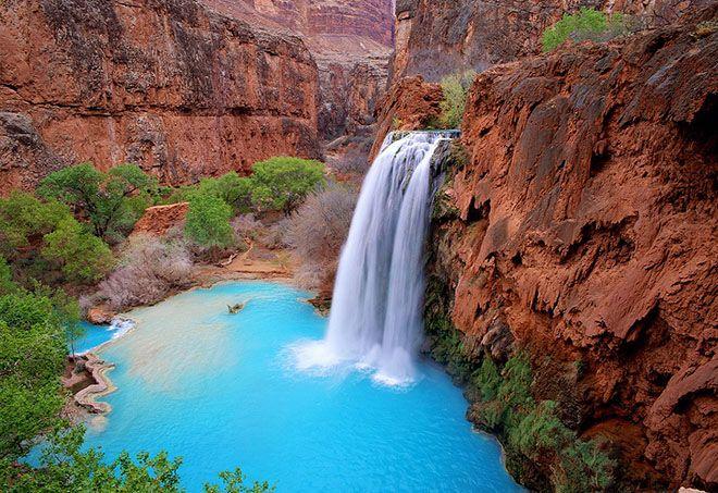 Havasu Falls Havasupai Arizona Havasu Falls National Parks Places To Go