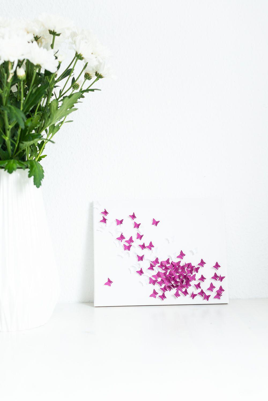 Basteltipp 3d Bild Mit Schmetterling Selbst Machen