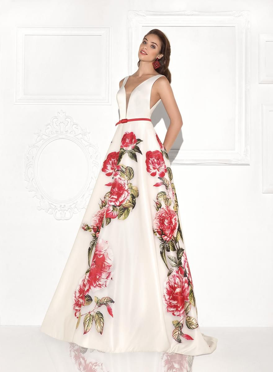 92768 in pink flowers | Prom dresses for the girls | Pinterest ...