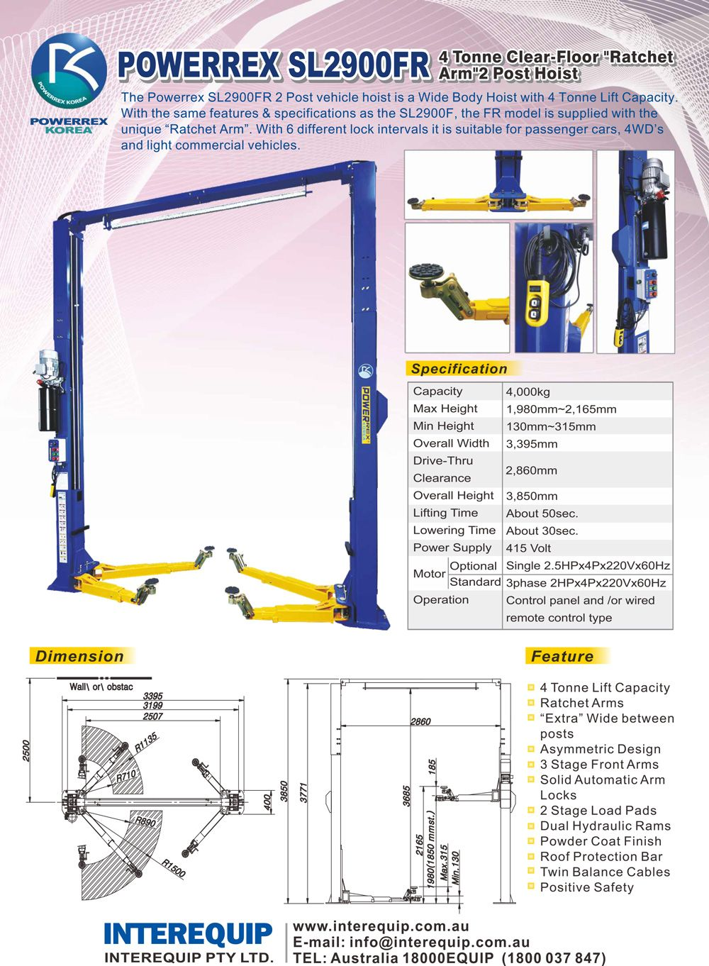 medium resolution of car lift car hoist vehicle lift vehicle hoist 2 post 4 post interequip