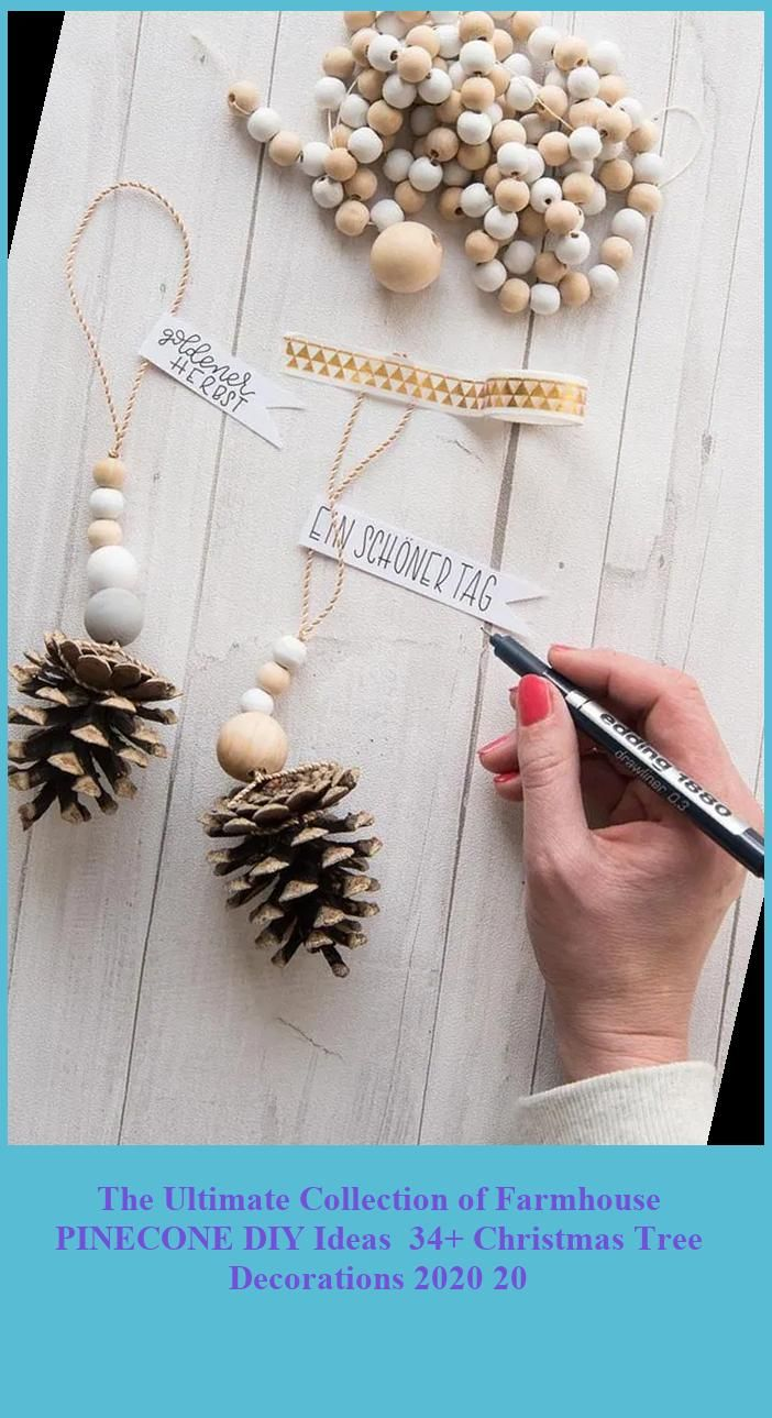 Photo of The Ultimate Collection of Farmhouse PINECONE DIY Ideas  34+ Christmas Tree Decorations 2020 20