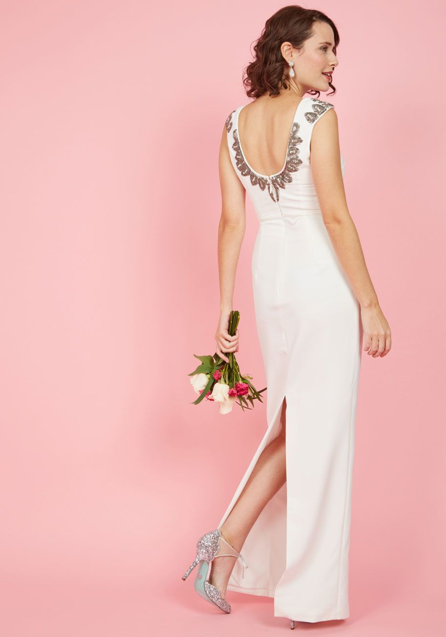 Simply Stunning Maxi Dress in White   ModCloth, White gowns and Maxi ...