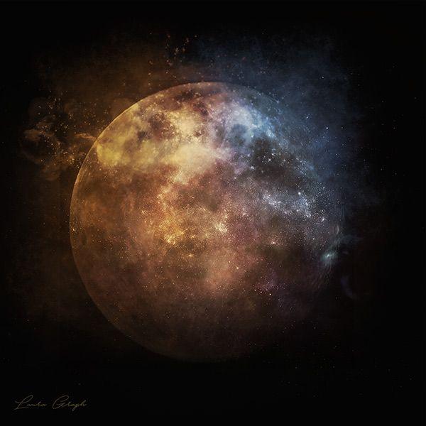The moon  By Laura Graph  Crédits : http://laura-graph.deviantart.com/art/The-moon-652500250