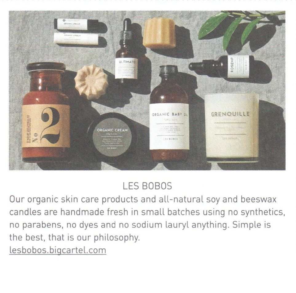 Les Bobos Organic Skin Care Products Nothing Artificial Soy