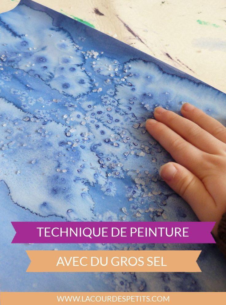 Encre Et Gros Sel La Technique Pas A Pas Peinture Enfant