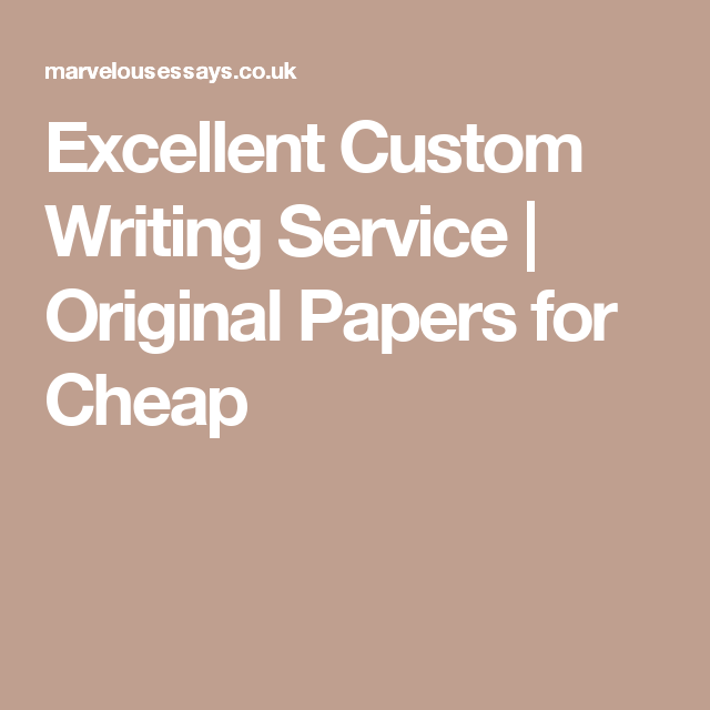 Excellent writing service