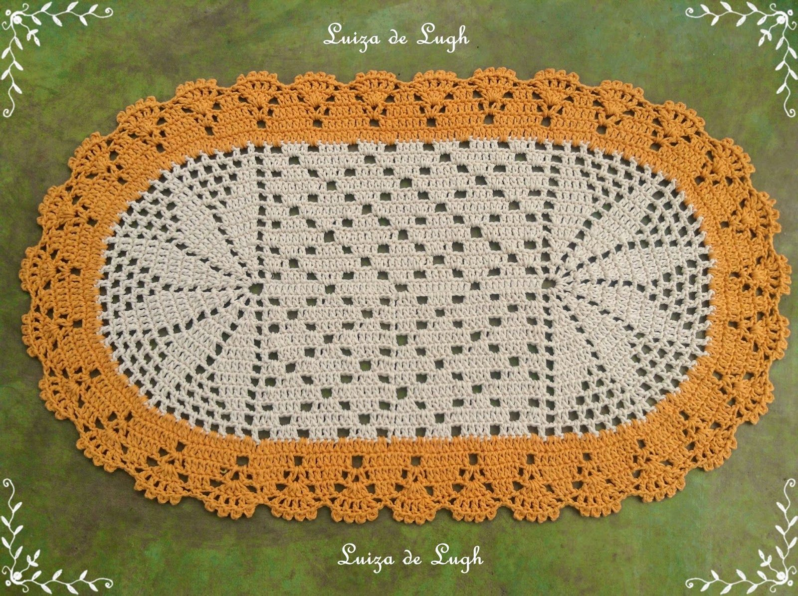 Tapete De Barbante N 12 Tutorial H Keln Pinterest Crochet  -> Tapete De Barbante Com Luiza De Lugh