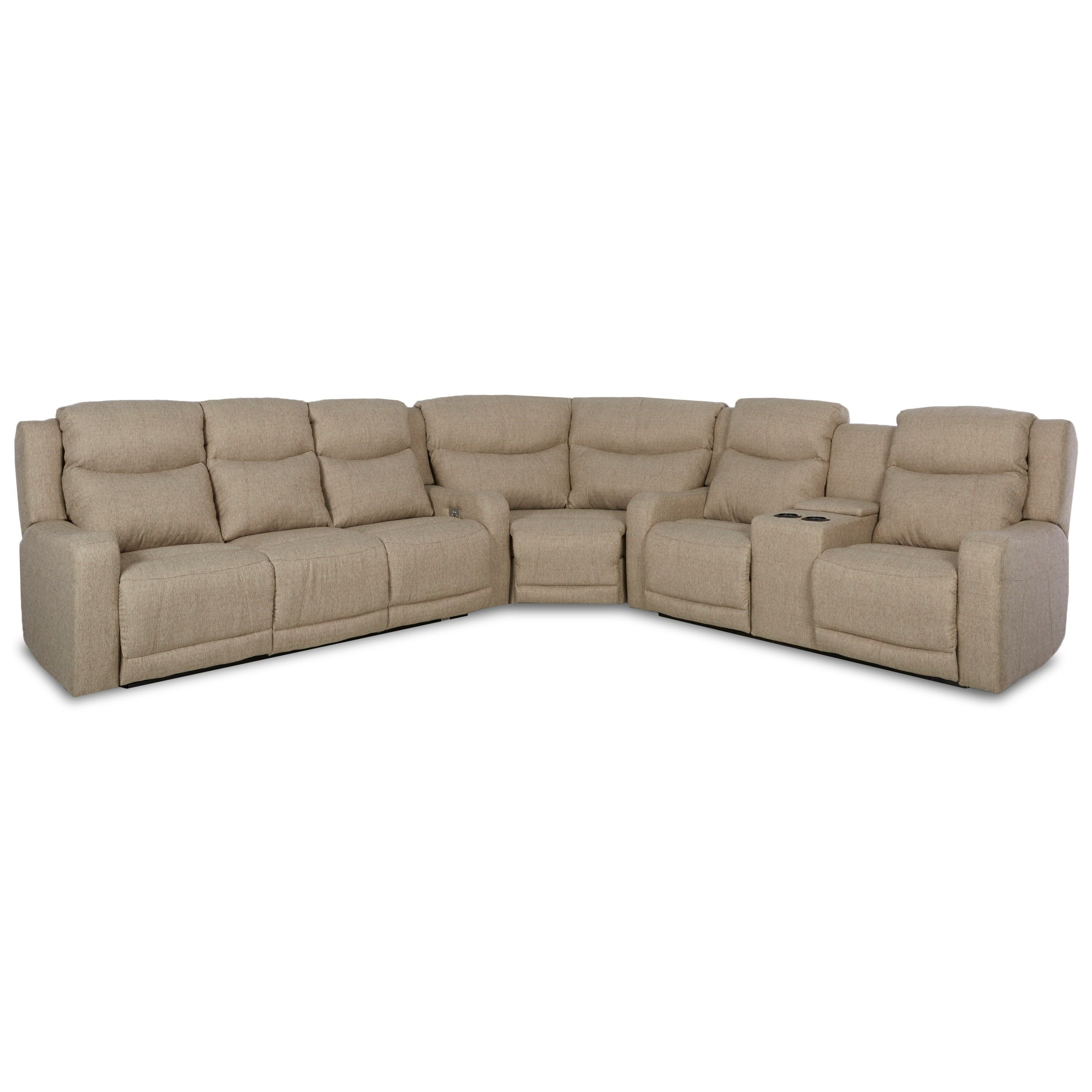 barnett 3 pc reclining sectional sofa by klaussner at dunk