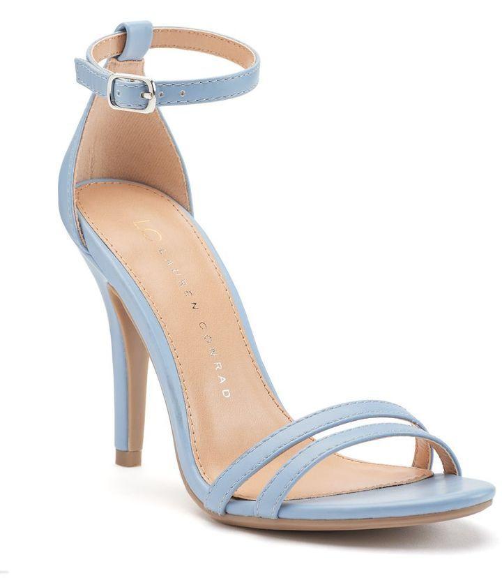 LC Lauren Conrad Runway Collection ankle strap powder blue high heel sandals