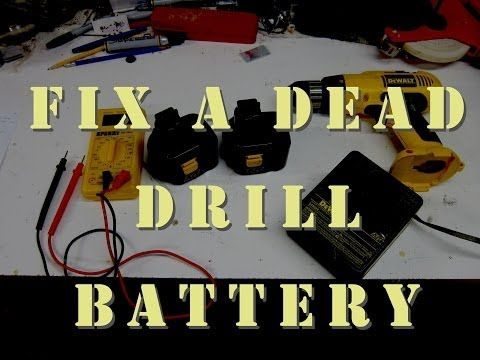 Restore Revive Zap Old Dead Drill Battery Free Wood Turning Projects Projects Drill