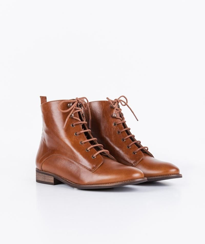 Stiefelette in Brandy