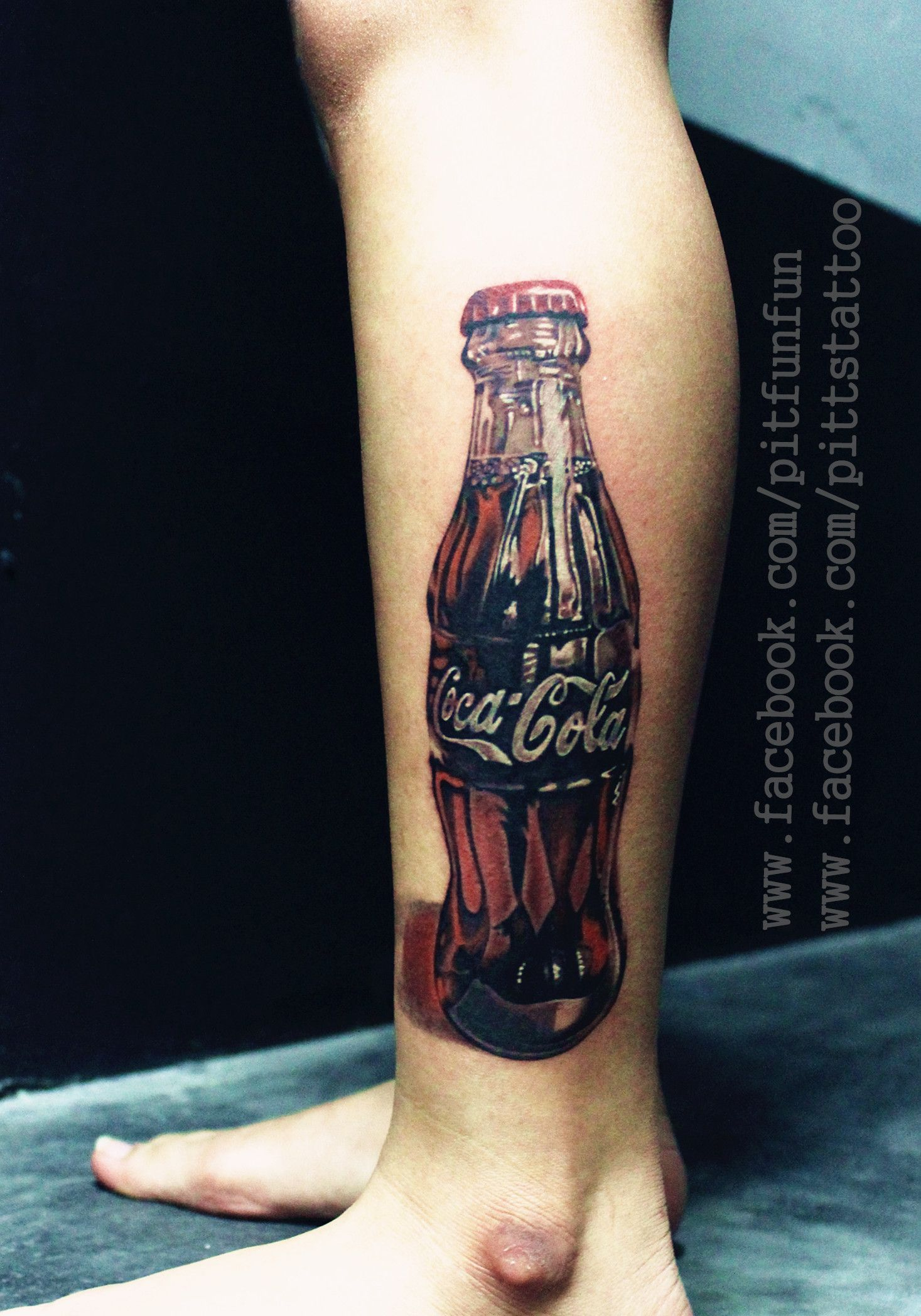 realistic coca cola tattoo for more pls visit tattoos by pit fun. Black Bedroom Furniture Sets. Home Design Ideas