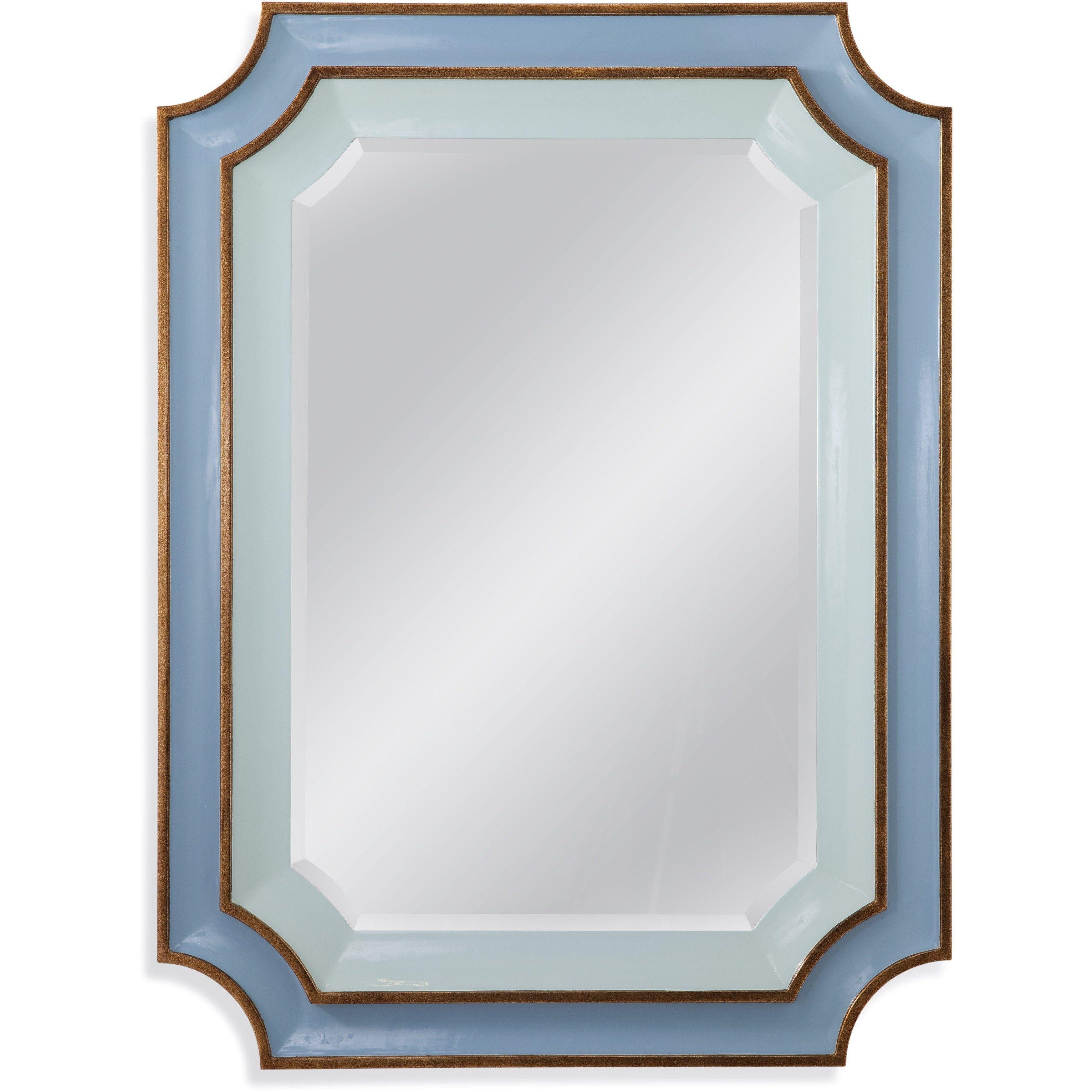 Bassett Mirror Regency Wall Mirror Blue Gold 36 X 48 M3807bec