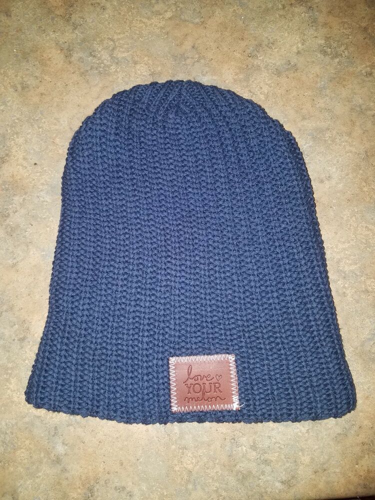 Brand New LOVE YOUR MELON Navy Knit Beanie Hat  fashion  clothing  shoes   accessories  unisexclothingshoesaccs  unisexaccessories (ebay link) 898157a764a