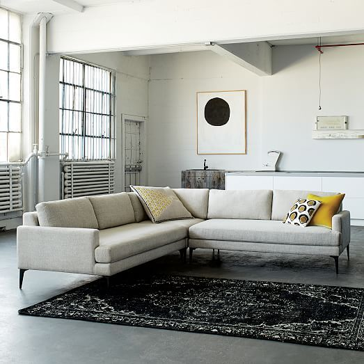 Andes 3-Piece Sectional   3 piece sectional, 5 seater sofa ...