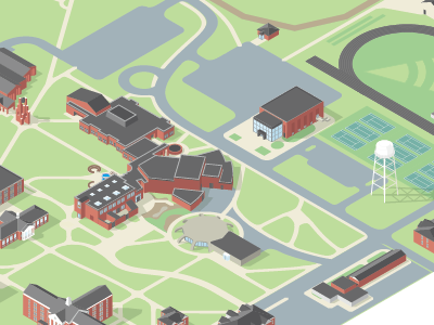 I could see a simpler version of this working for us— cross street map with 3d buildings.