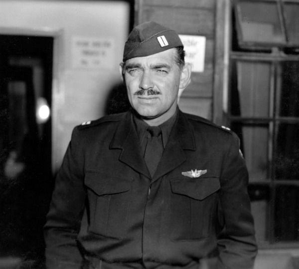 After the death of wife Carole Lombard, Clark Gable at age forty-one enlisted in the Army Air Corps as a private.