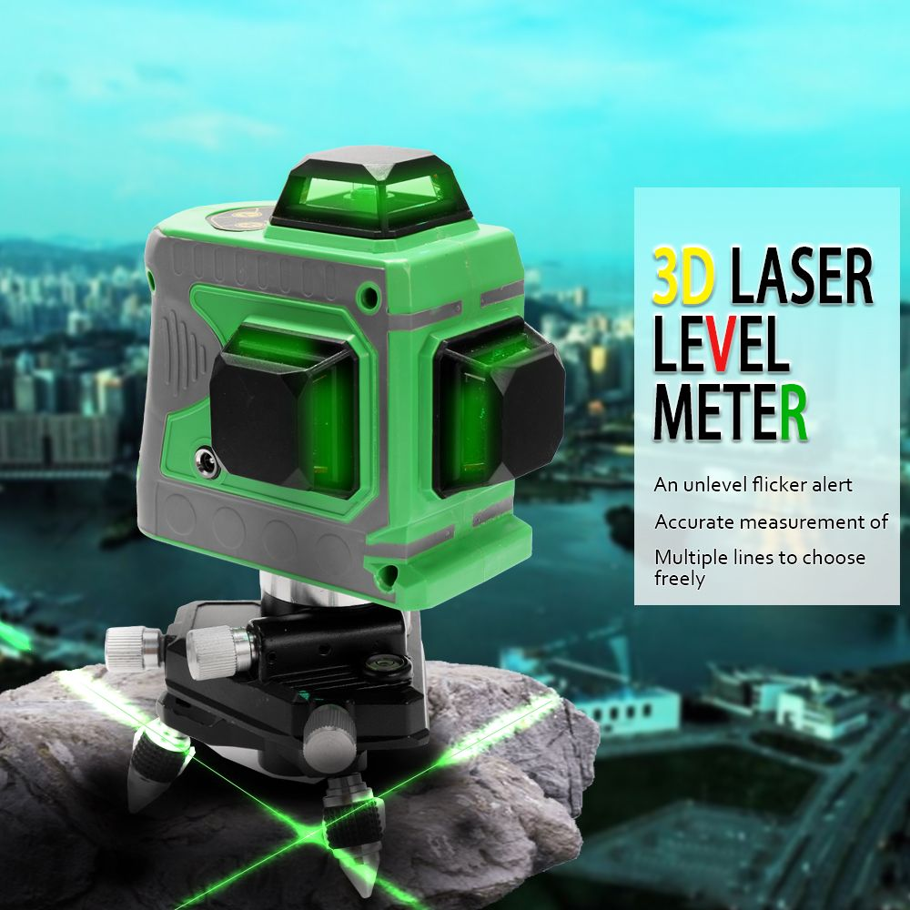 3d Laser Level 360 Laser Levels High Accuracy 12 Lines Blue Green Laser Level Instrument Scanister Kit With Tripod Storage With Images Green Laser Laser Levels Bag Storage