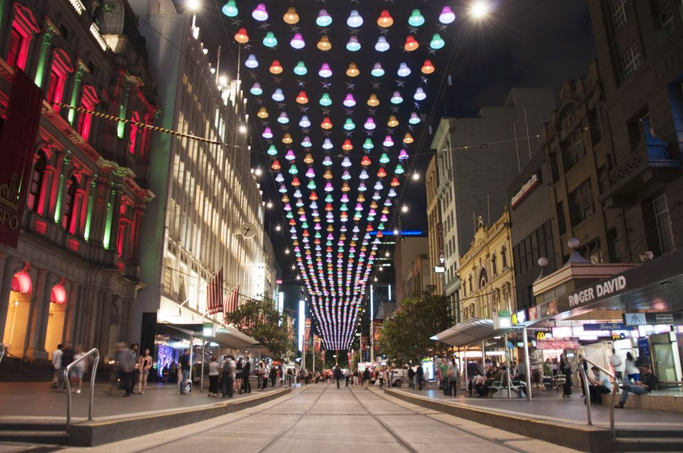Another shot of the 2012 Bourke Street Mall Christmas Lights. The ...