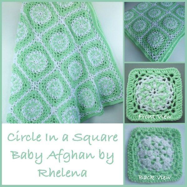 Circle Square Baby Afghan | Ganchillo, Colchas y Manta