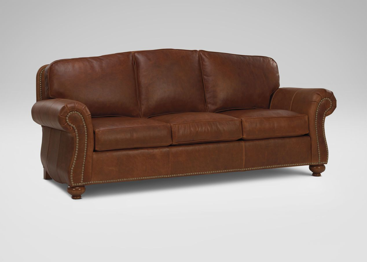 Whitney Leather Sofa Ethan Allen Love Seat Leather Sofa Sofa