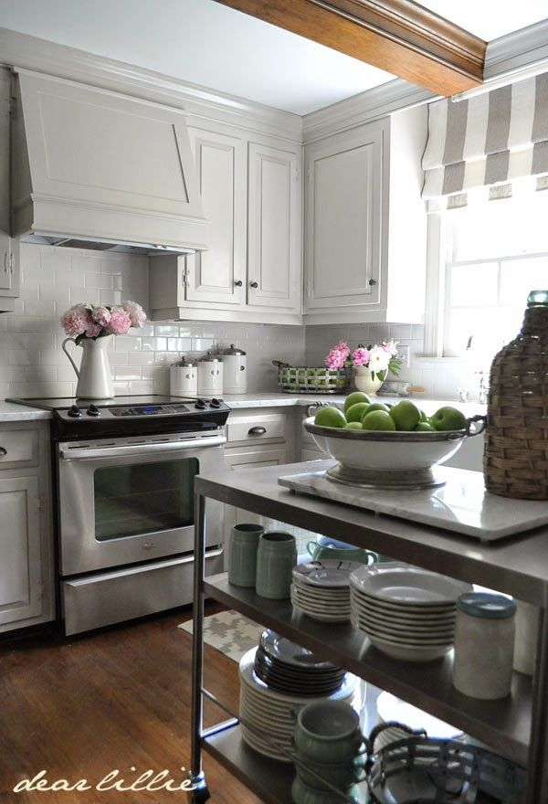 Dear Lillie: Our Home Cabinet and Trim Color- London Fog in Semi ...