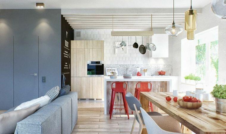 arredamento scandinavo come arredare ambiente unico cucina soggiorno ...
