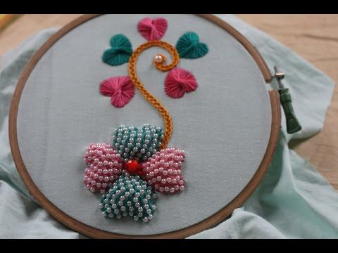 Hand Embroidery Designs Bullion Knot Stitch Stitch And Flower