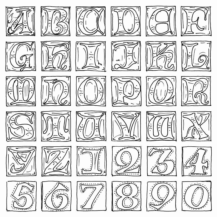 95 Top Illuminated Alphabet Coloring Pages For Free